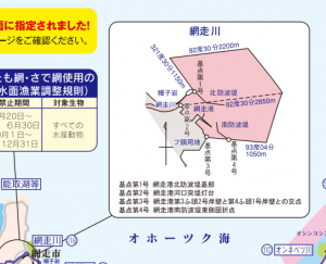 網走川 サケマス釣り 河口規制